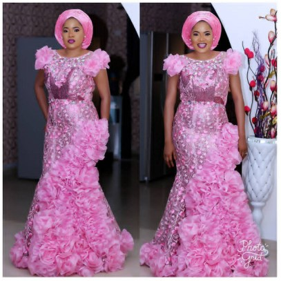 Nigerian Wedding Aso ebi pink colour of the week #TheCasuals17 LoveWeddingsNG